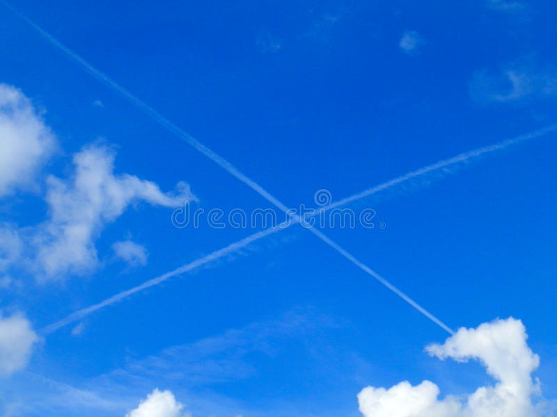 Letter X in the sky royalty free stock photography