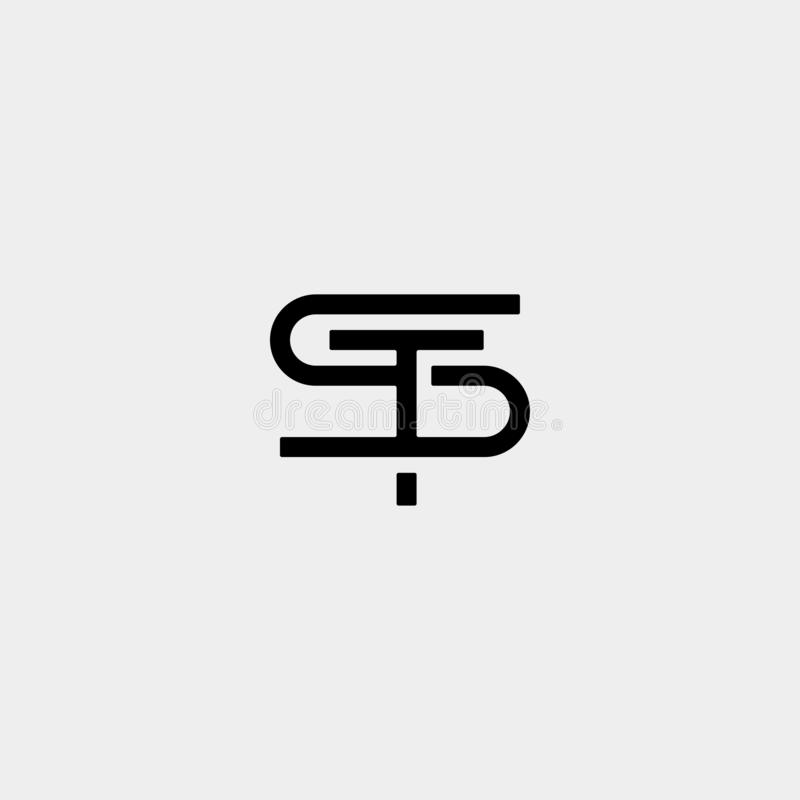 Letter ST TS S T Logo Design Simple Vector. Elegant, initial, luxury, black, brand, gold, typography, fashion, icon, business, logotype, concept, font, beauty vector illustration