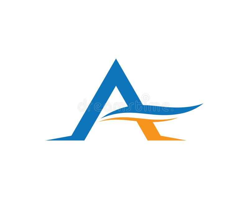 Letter a symbol illustration design. A letter logo vector icon illustration design, corporate, abstract, symbol, font, abc, accurate, achieved, advertising royalty free illustration