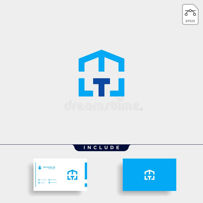 Letter T Home Logo Vector Design Symbol. Letter T Home Logo Vector Design Illustration Symbol, business, company, icon, abstract, modern, template, house, estate stock illustration