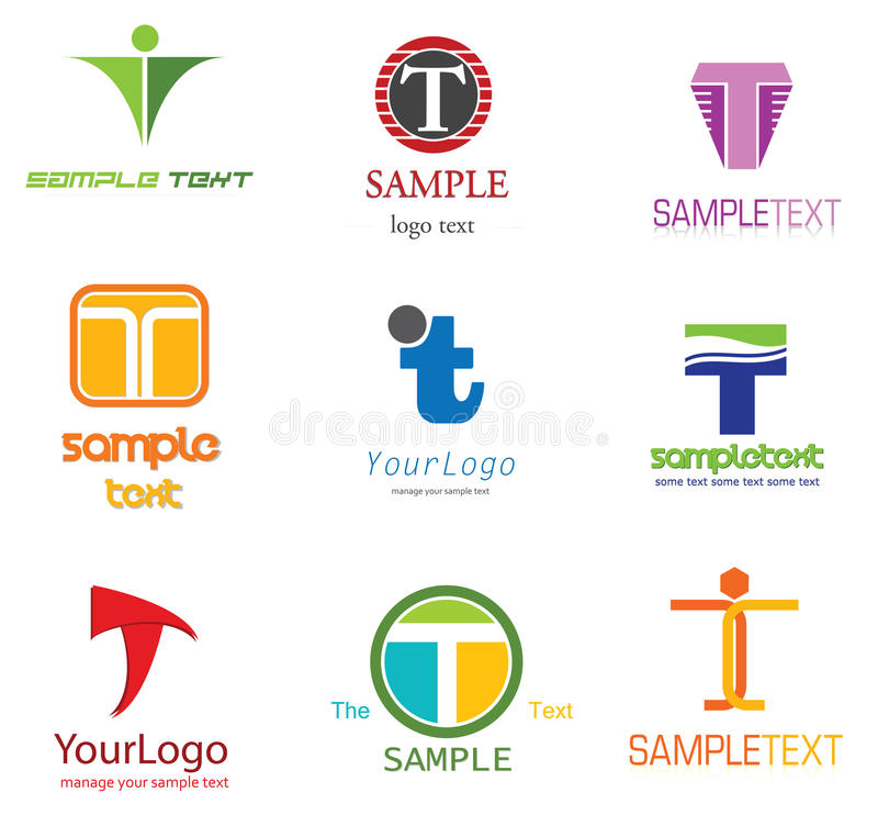 Letter T Logo. Alphabetical Logo Design Concepts. Letter T royalty free illustration