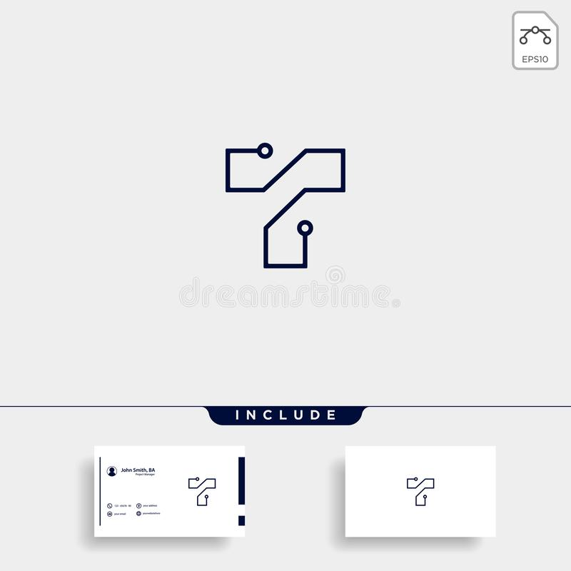Letter T Logo Tech Wifi Vector Design. Internet Icon, digital, symbol, mobile, initial, web, business, abstract, company, brand, modern, graphic, concept vector illustration