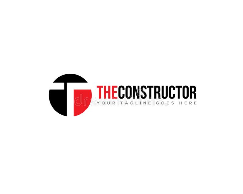 Letter T R construction building road infrastructure. Logo template vector illustration