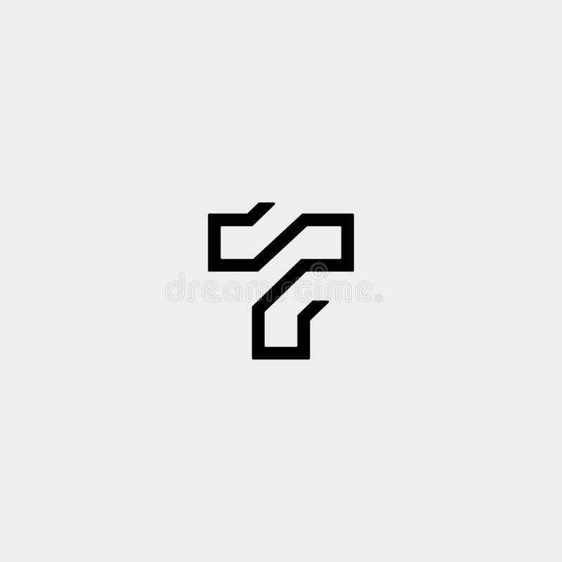 Letter T TT Logo Design Simple Vector. Elegant, brand, initial, gold, typography, luxury, fashion, icon, business, logotype, concept, font, beauty, boutique stock illustration