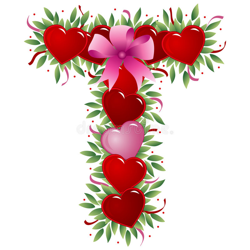 Download Letter T - Valentine Letter Stock Vector - Image: 4009298