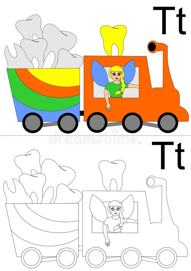 Letter t worksheet royalty free stock image