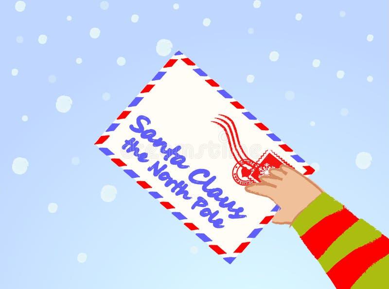 Letter to Santa Claus vector royalty free stock photos