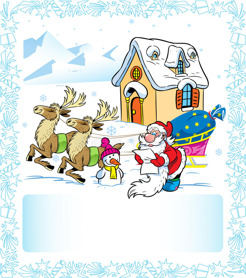 Letter to Santa Claus royalty free illustration