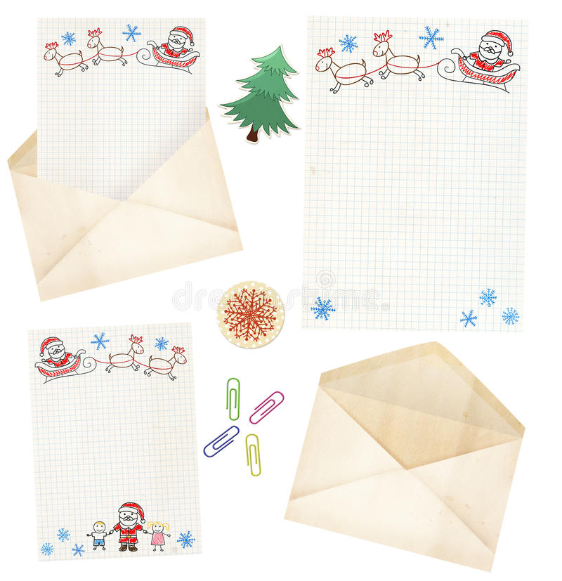 Download Letter to Santa Claus stock illustration. Illustration of claus - 27529188