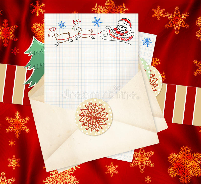 Letter To Santa Claus Stock Photo