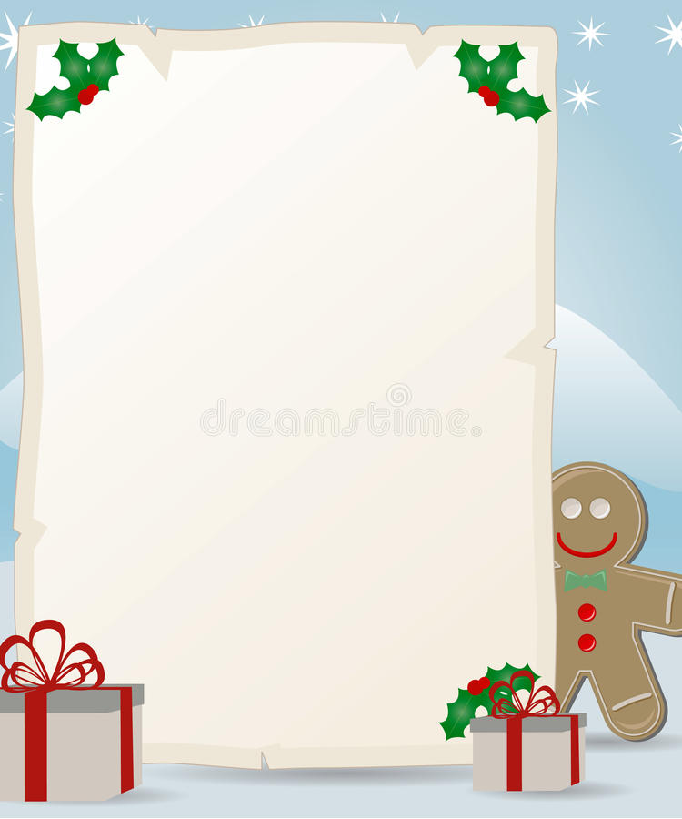 Letter to santa claus with gingerbread man stock vector download letter to santa claus with gingerbread man stock vector illustration of snowflake letter spiritdancerdesigns Images