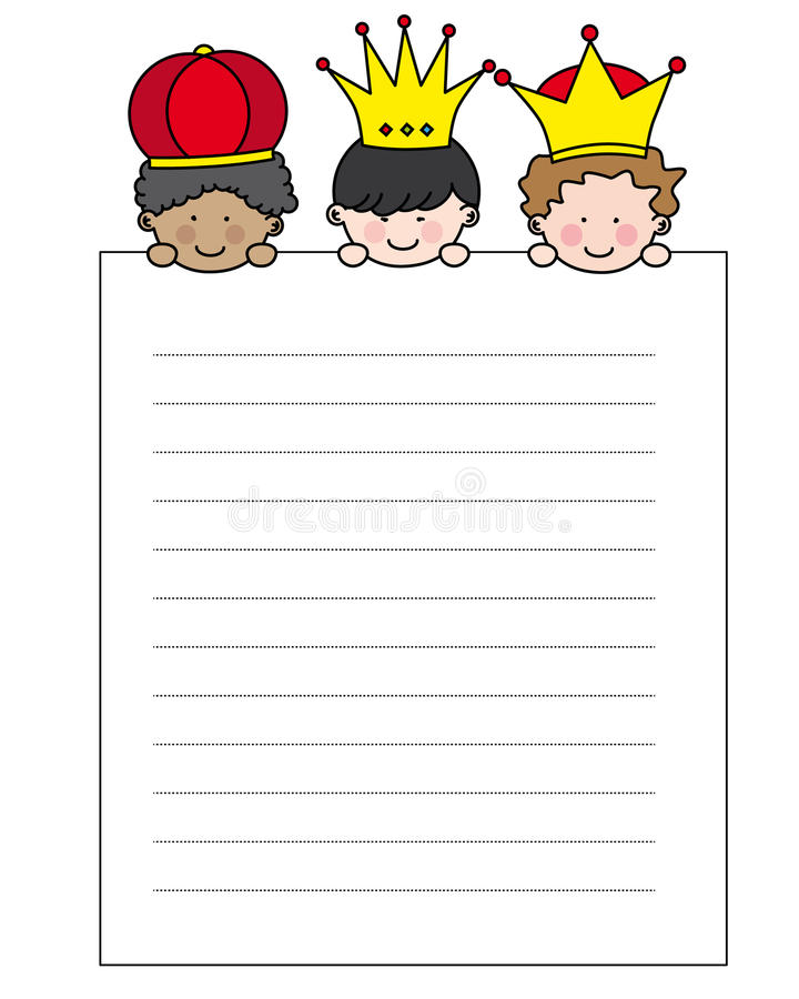 Download Letter to the Three Kings stock vector. Illustration of gaspar - 27882573