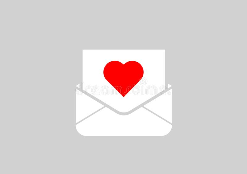 Letter to your loved one. A letter to your loved one on Valentine`s day with a Declaration of love royalty free illustration