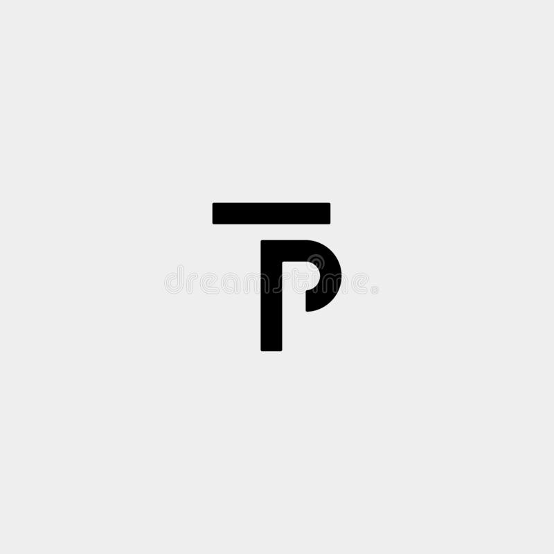 Letter TP PT T P Logo Design Simple Vector. Elegant, brand, initial, gold, typography, luxury, fashion, icon, business, logotype, concept, font, beauty vector illustration