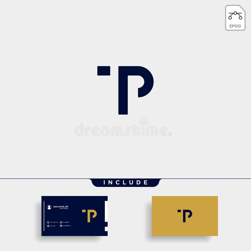 Letter TP PT T P Logo Design Simple Vector. Elegant, brand, initial, gold, typography, luxury, fashion, icon, business, logotype, concept, font, beauty royalty free illustration