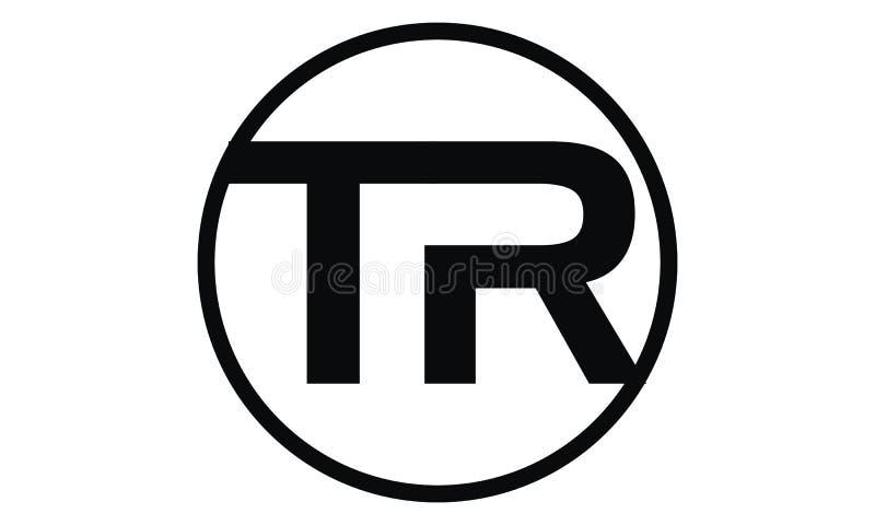 Letter TR Modern stock illustration