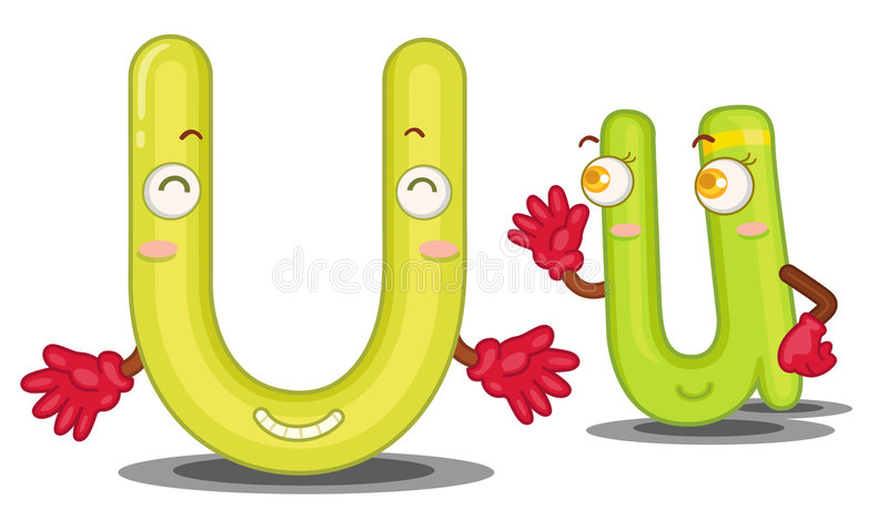 The letter U stock illustration Image of cartoon spelling