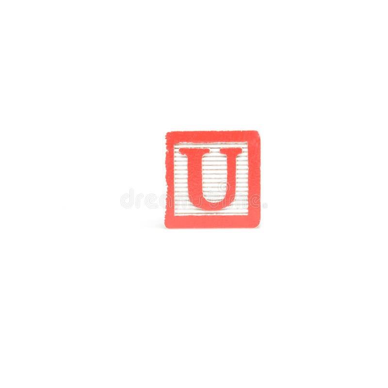 Letter U Block stock images