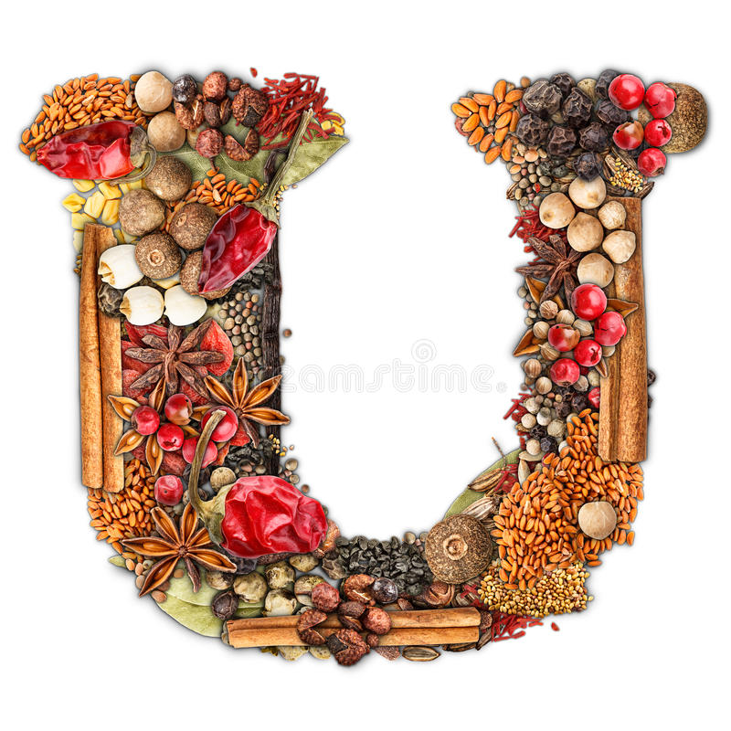Spices letter stock photography