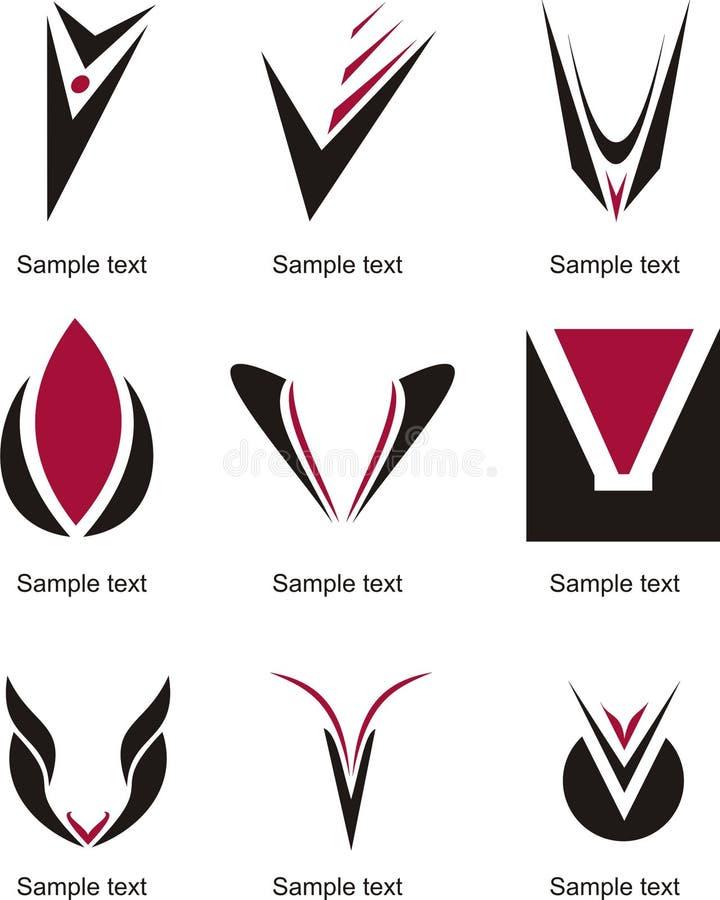 Letter V Logo. Alphabetical Logo Design Concepts. Letter V stock illustration