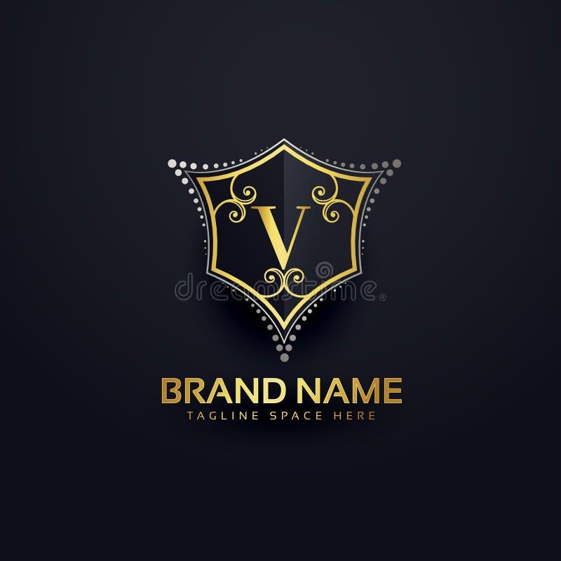 Letter V logo design template royalty free illustration