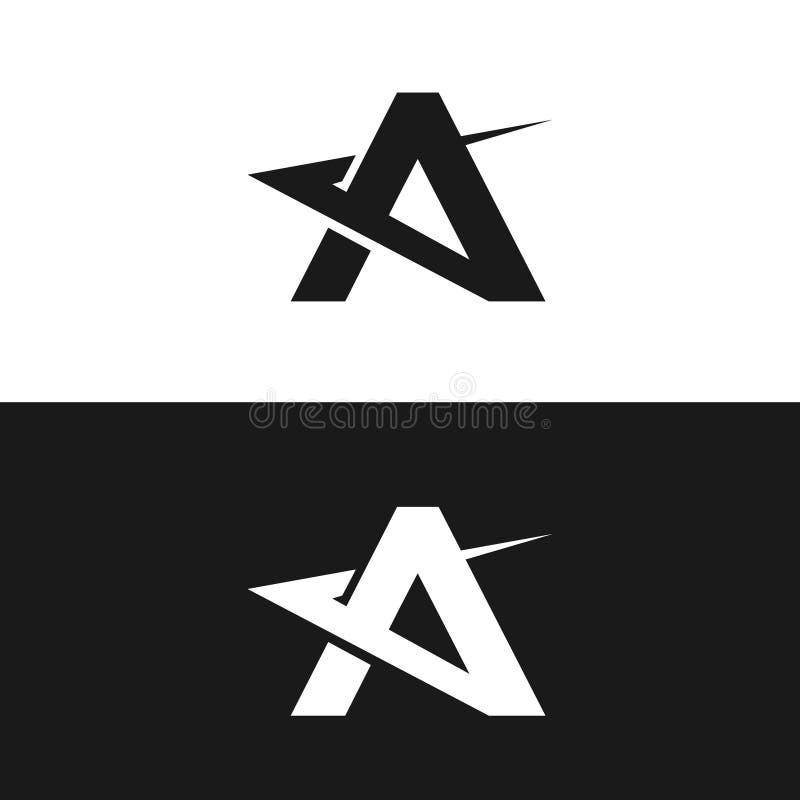Letter A - vector logo concept illustration for business company logo. Letter A - vector logo concept illustration. Letter A with check logotype. Abstract logo vector illustration