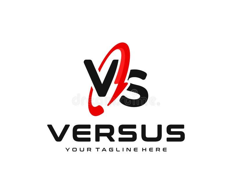 Letter vs with lightning logo design. Thunderbolt with ws letters vector design stock illustration