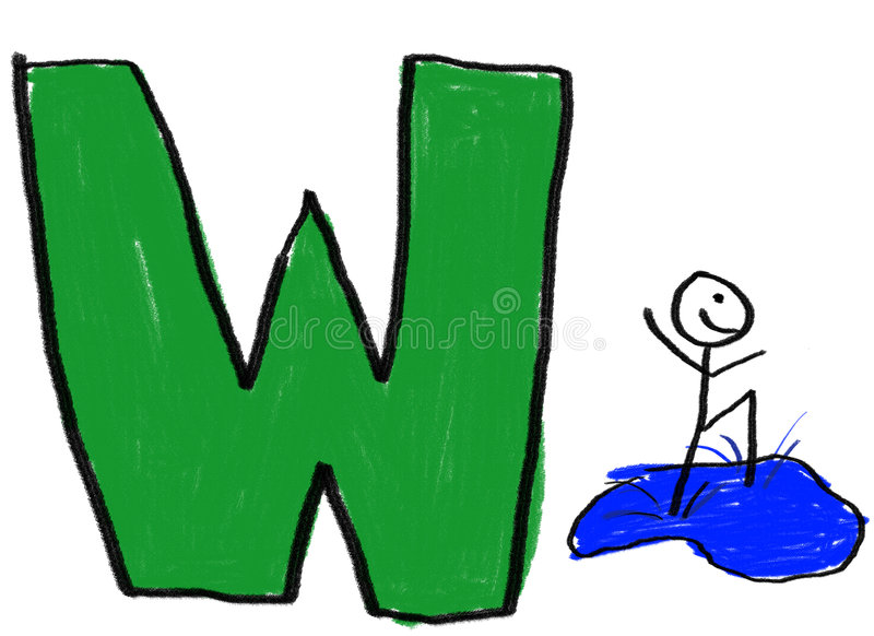 Letter W Stock Image