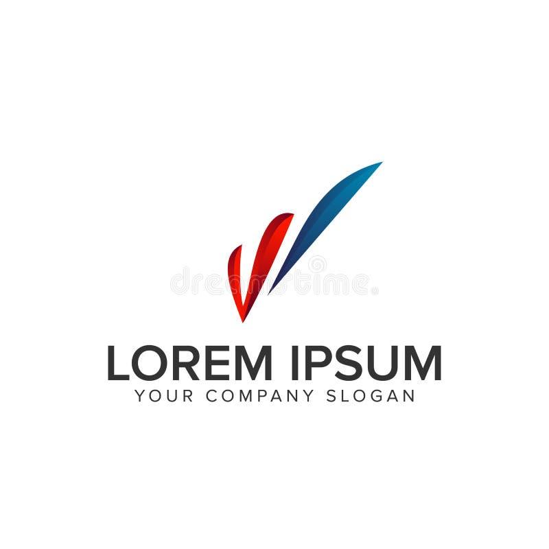 Letter W modern logo royalty free illustration