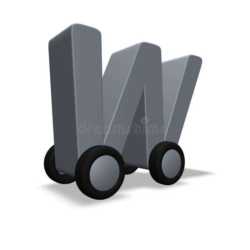 Download Letter w on wheels stock illustration. Illustration of logistics - 13272833