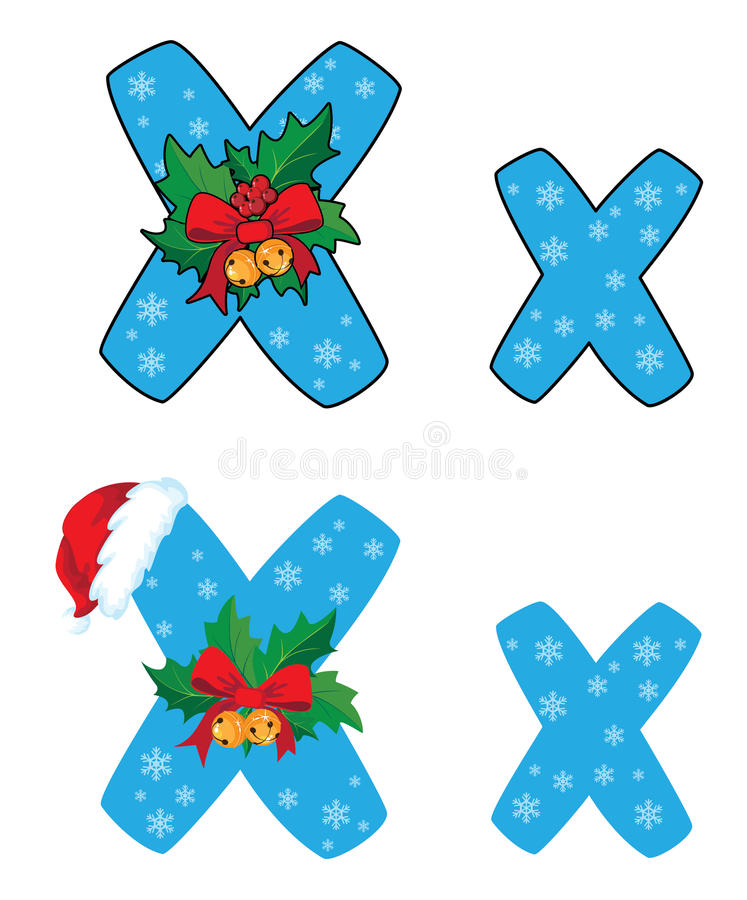 Download Letter X Xmas stock vector. Image of education, year - 26895687
