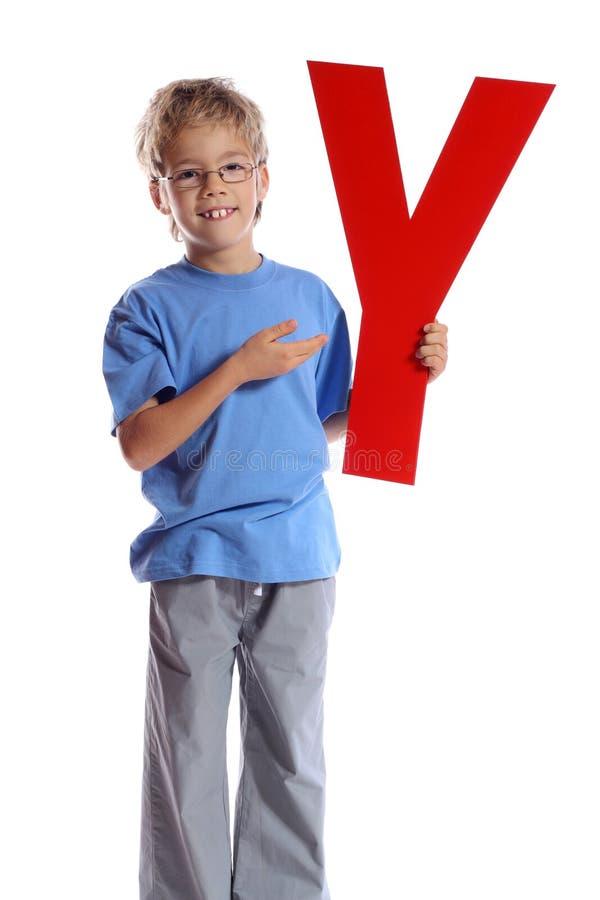 Download Letter Y stock image. Image of preschooler, message, portrait - 12048131