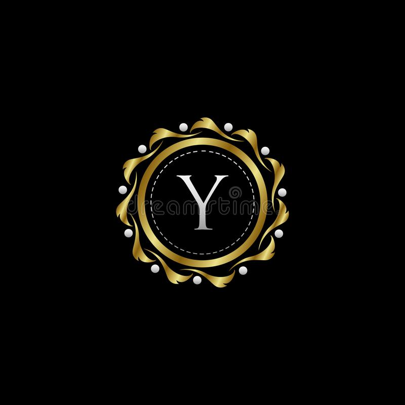Letter Y Luxury Boutique Circle Badge Template Logo. Vector, suitable with classy and vintage theme vector illustration