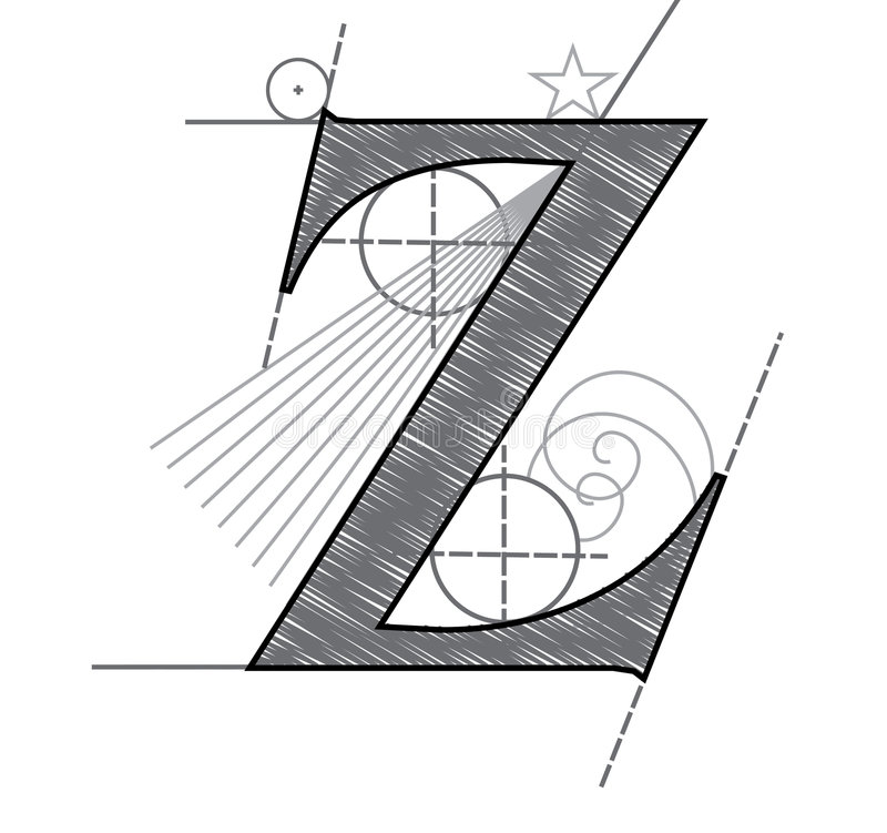 Download Letter Z stock vector. Image of plan, english, alphabet - 7690649