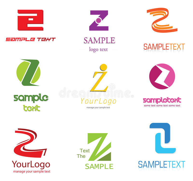 Letter Z Logo. Alphabetical Logo Design Concepts. Letter Z vector illustration