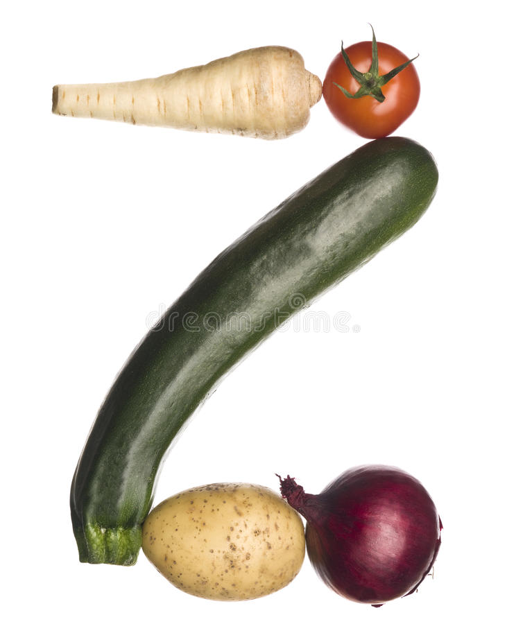 The letter 'Z' made out of vegetables royalty free stock photography