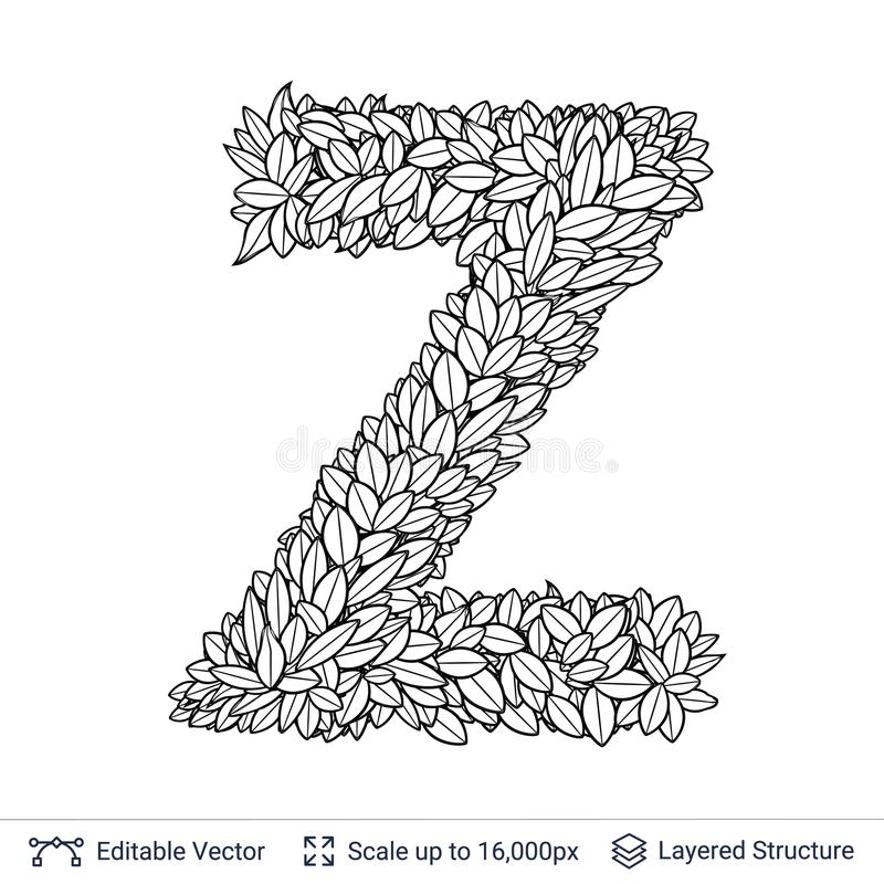Letter z symbol of white leaves stock vector illustration of download letter z symbol of white leaves stock vector illustration of design graphic spiritdancerdesigns Image collections