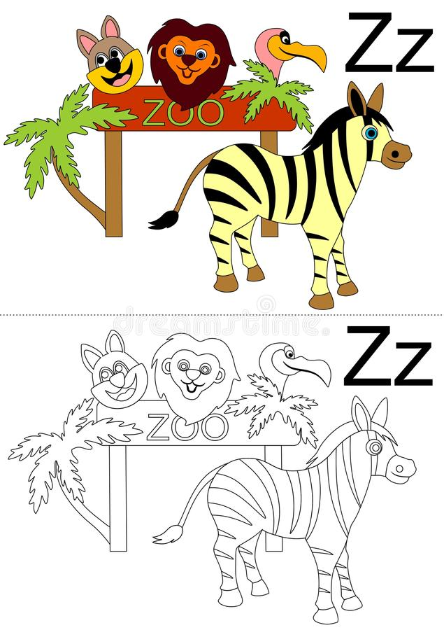 Letter z worksheet royalty free stock images