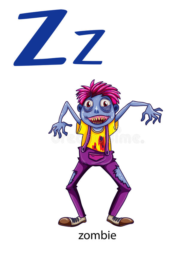 Letter Z for zombie royalty free illustration