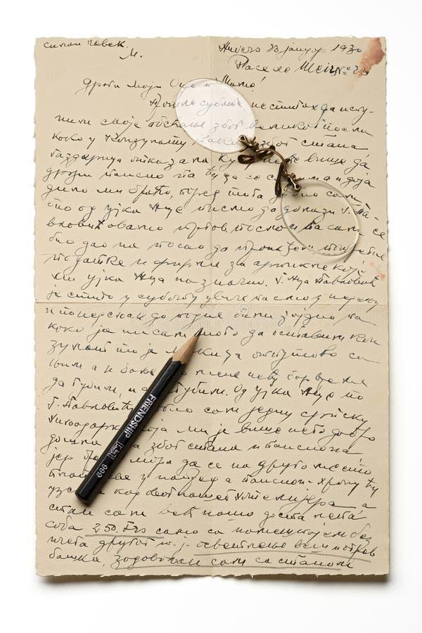 Lettera fotografia stock libera da diritti
