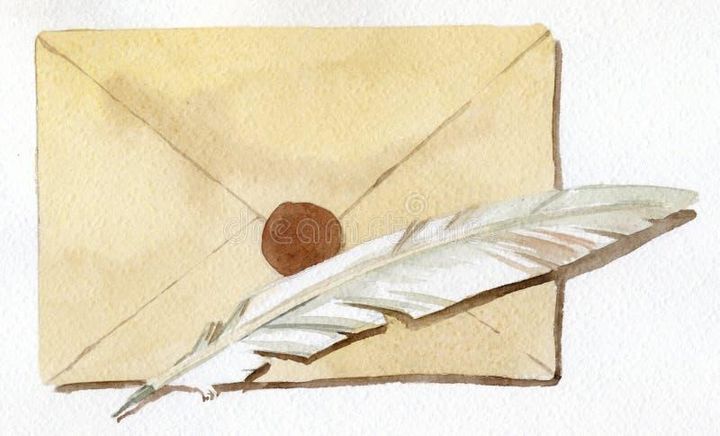 Lettera illustrazione di stock