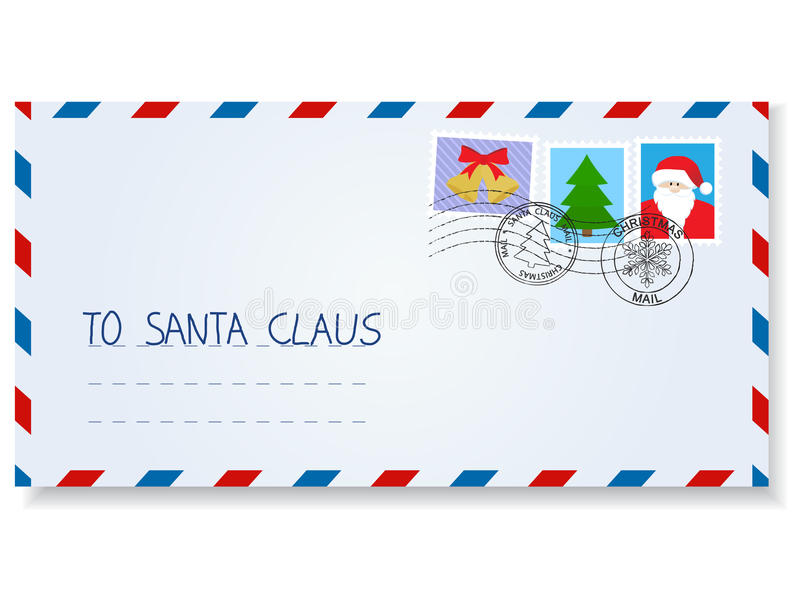 Lettera al Babbo Natale illustrazione vettoriale