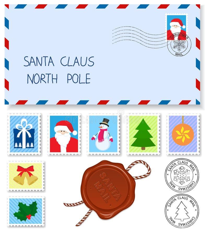 Lettera al Babbo Natale illustrazione di stock