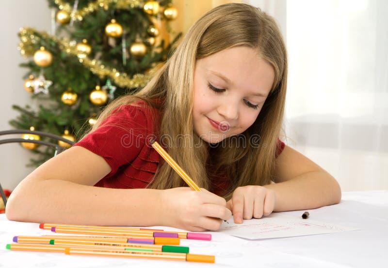 Lettera al Babbo Natale fotografie stock