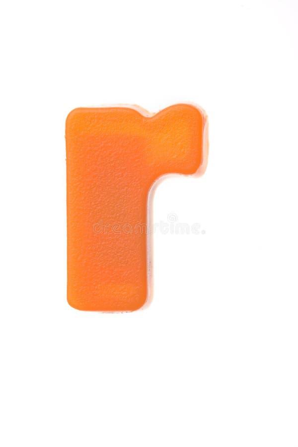 Lettera arancione r fotografie stock libere da diritti