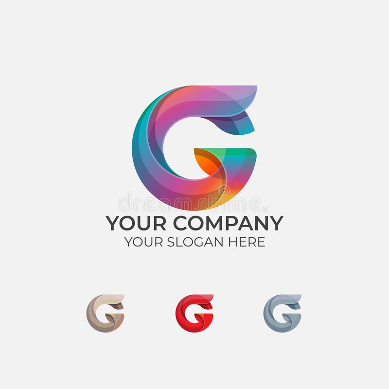 Lettera astratta G Logo Design illustrazione vettoriale