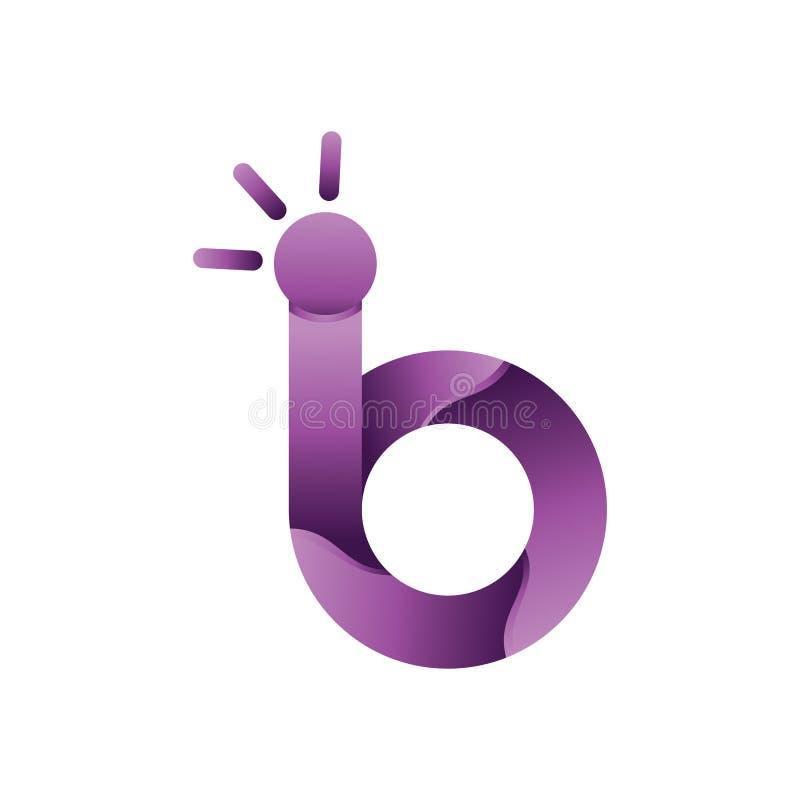 Lettera b 3D Logo Vector del cerchio illustrazione di stock