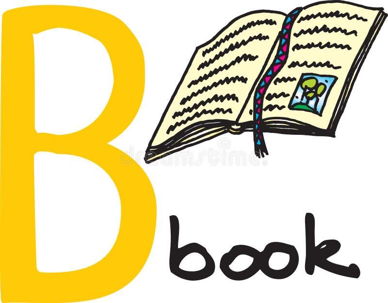 Lettera B - libro illustrazione di stock