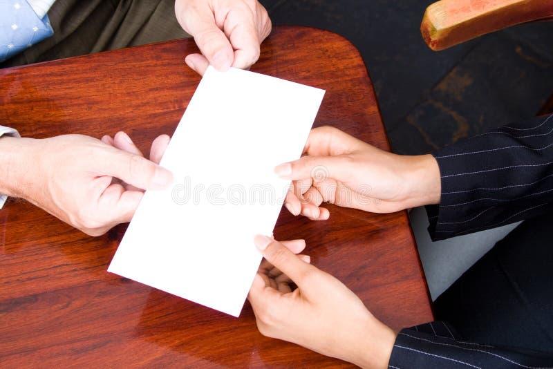 Lettera in bianco fotografia stock libera da diritti