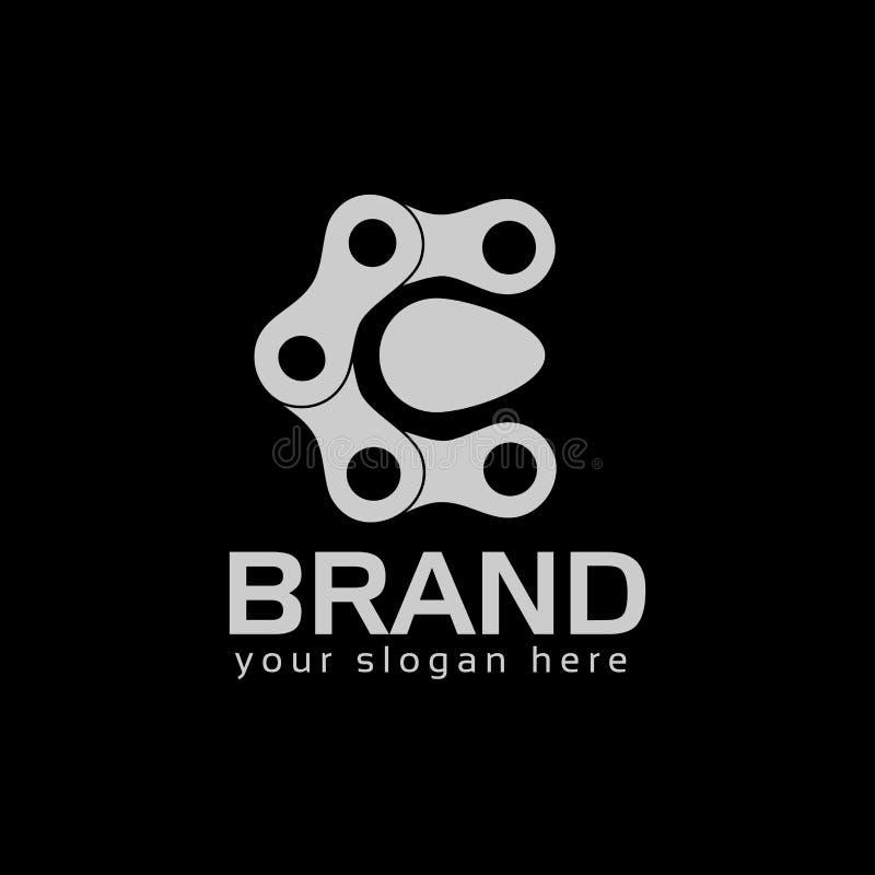 Lettera C, Logo Letter C e catena logo costituito dalla catena illustrazione di stock